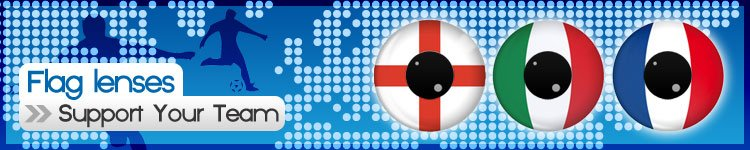 European Flag Contact Lenses