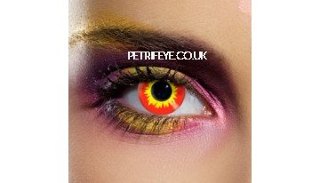 1 Day Use Wild Fire Festival Crazy Contact Lenses