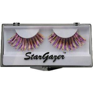 azer Reusable False Eyelashes Purple & Gold Hologram Foil 23