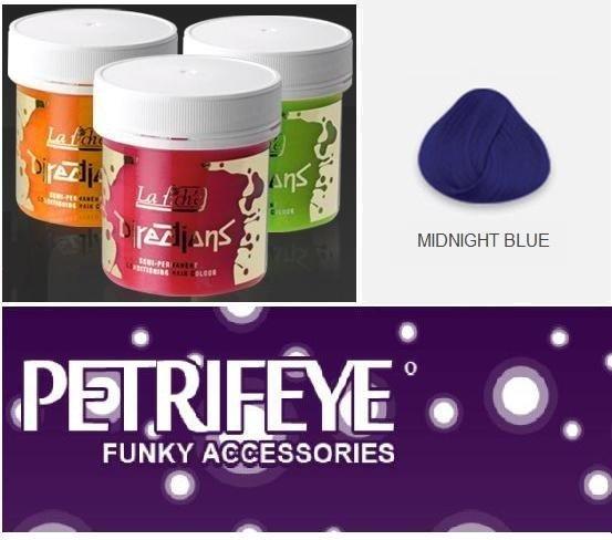 Midnight Blue Directions Semi Perm Hair Dye By La Riche