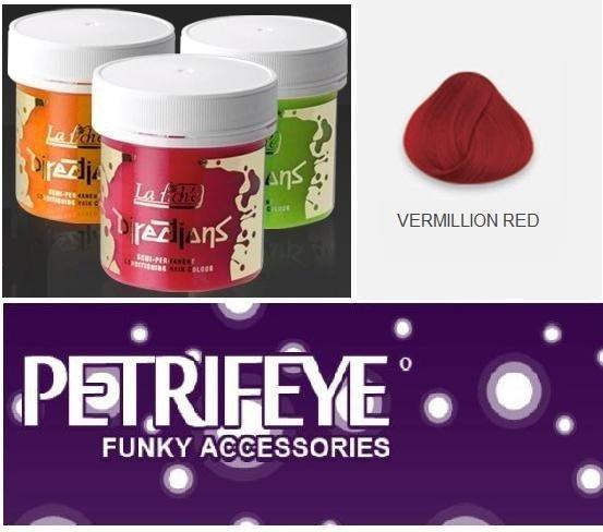 Vermillion Red Directions Semi Perm Hair Dye By La Riche