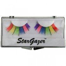 rgazer Reusable False Eyelashes Multi Coloured Rainbow 9