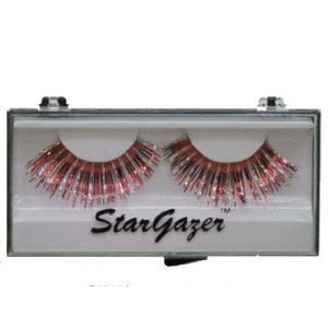 Stargazer Reusable False Lashes - Silver & Red Foil 26