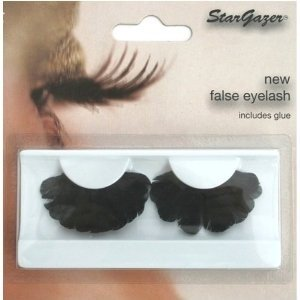 Stargazer Reusable False Eyelashes Black Thick Feathers 45