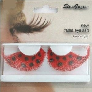Stargazer Reusable False Eyelashes Red with Black Spots 66