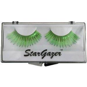 Stargazer Reusable False Eyelashes Bright Green and Foil 7