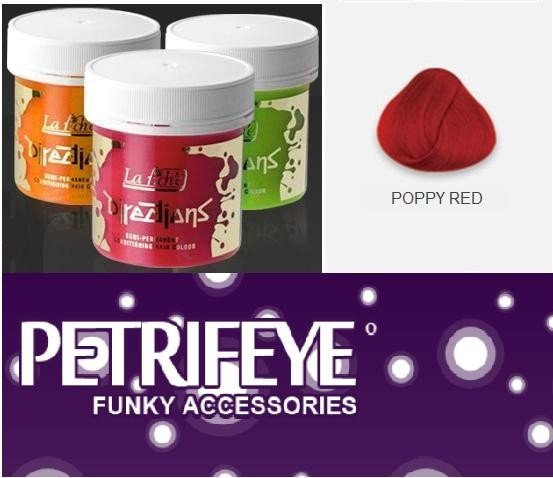 Poppy Red Directions Semi Perm Hair Dye By La Riche