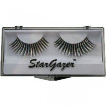 Stargazer Reusable False Eyelashes Black & Silver Hologram Foil 27