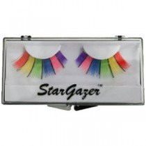rgazer Reusable False Eyelashes Multi Coloured Rainbow 9
